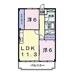 B・Bエイト[4階]の間取り