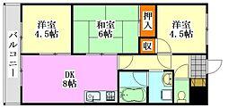 ライオンズマンション船橋第7[704号室]の間取り