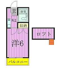 ジュネパレス松戸第177[1階]の間取り