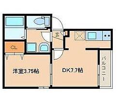 東京都豊島区西巣鴨2丁目の賃貸アパートの間取り