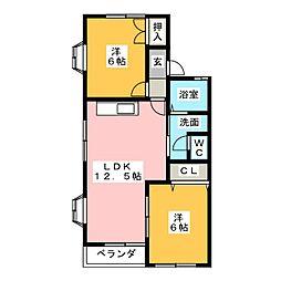ハイネスソーワI[1階]の間取り