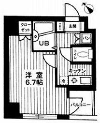 東京都世田谷区大原1丁目の賃貸マンションの間取り