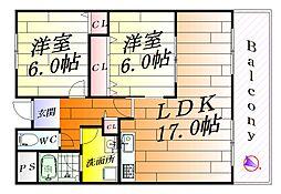 エスポワール千里[5階]の間取り