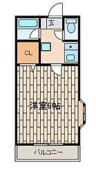 第2サンハイツ大野[1階]の間取り