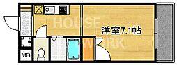 フォスマット松ヶ崎[107号室号室]の間取り