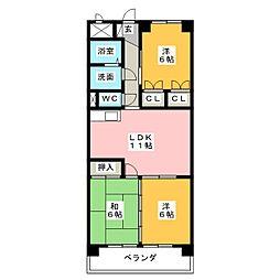 メゾンブローニュ 8[2階]の間取り