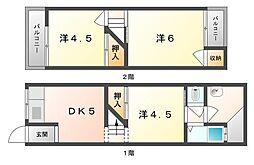 [テラスハウス] 大阪府寝屋川市木田元宮2丁目 の賃貸【/】の間取り