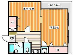 クラッシーフラット藤田ハイツ[6階]の間取り