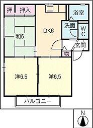 河合アパートA[2階]の間取り