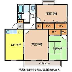 ワイエムハウス・ミコタA棟[1階]の間取り
