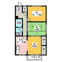 アネックスYAYOI B棟[1階]の間取り