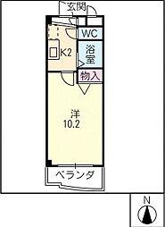 スィルヴィーブル248[2階]の間取り