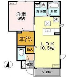 アージョ2[1階]の間取り