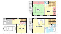 [一戸建] 兵庫県神戸市東灘区御影山手3丁目 の賃貸【/】の間取り