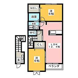 グリーンフィールド11[2階]の間取り