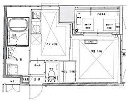 ノルデンタワー南森町プレミアム[2階]の間取り
