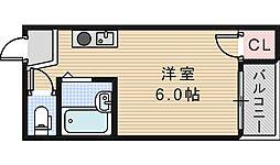セラ天王寺A[114号室]の間取り