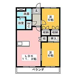 メゾンイーズ[2階]の間取り