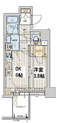 レオンコンフォート本町橋 13階1DKの間取り