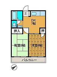 ジョイフル柿生[3階]の間取り