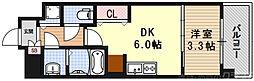 THE GARNET MILLENNIUM KYOTO九条烏丸 7階1DKの間取り