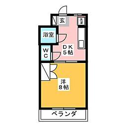 フレンドシティII[3階]の間取り