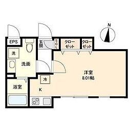 Branche 桜山 Chambre(ブランシェサクラヤマシ[2階]の間取り