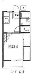 メゾンテヅカ G[202号室号室]の間取り