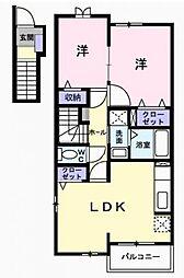 パークサイド小金井[1階]の間取り