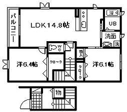 ベルナードプレイリー[2階]の間取り