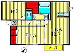 ポルト ボヌールC棟[1階]の間取り