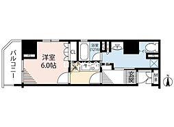 リーガル南船場III 12階1Kの間取り