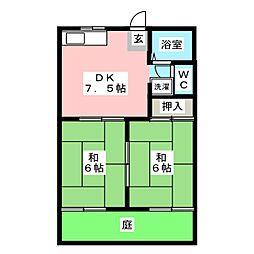 レジデンス藤[1階]の間取り