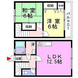 [テラスハウス] 神奈川県足柄上郡大井町金手 の賃貸【/】の間取り