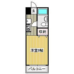 愛知県名古屋市中川区小碓通1丁目の賃貸マンションの間取り