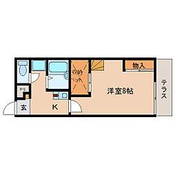 奈良県生駒郡三郷町立野北の賃貸アパートの間取り