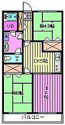 埼玉県さいたま市大宮区三橋1丁目の賃貸マンションの間取り