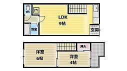 [タウンハウス] 大阪府大阪市生野区巽東2丁目 の賃貸【/】の間取り