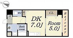 グランコート[6階]の間取り