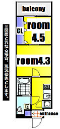 No.63 ORIENT CAPITAL TOWER 16階2Kの間取り