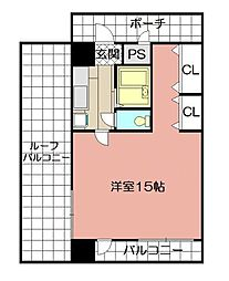 KMマンション八幡駅前III[1013号室]の間取り