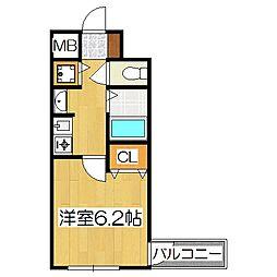 プレサンス京都四条河原町ネクステージ[5階]の間取り