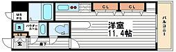 コンフォートレジデンス御堂筋本町[3階]の間取り