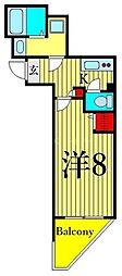 東京メトロ日比谷線 三ノ輪駅 徒歩12分の賃貸マンション 3階1Kの間取り