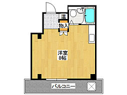クレセント布施[1階]の間取り