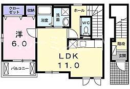 クラリティスカイ2[2階]の間取り