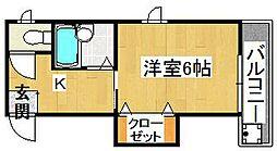 タカシハイツ[3階]の間取り