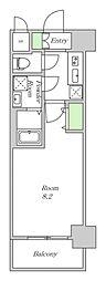 阪神本線 姫島駅 徒歩5分の賃貸マンション 8階1Kの間取り