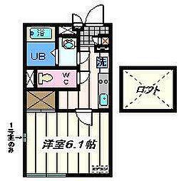 東京都足立区千住緑町3丁目の賃貸マンションの間取り