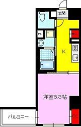 JPレジデンス京橋EAST 4階1Kの間取り